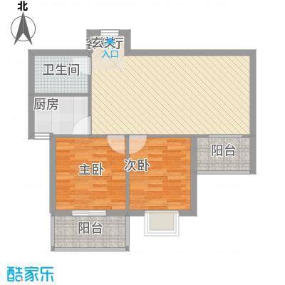 天馨雅园81.12㎡A户型2室2厅1卫1厨