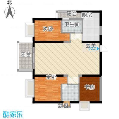 警备区龙华公寓113.00㎡户型3室