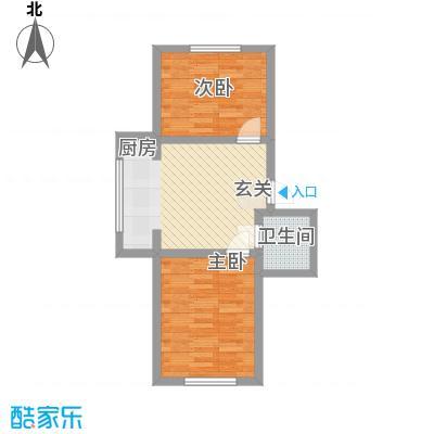 隆达丽景世纪城57.00㎡A6户型2室1厅1卫