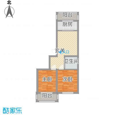 隆达丽景世纪城74.00㎡A5户型2室1厅1卫