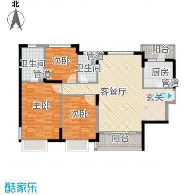 凯德嘉博名邸143.00㎡户型3室2厅2卫1厨