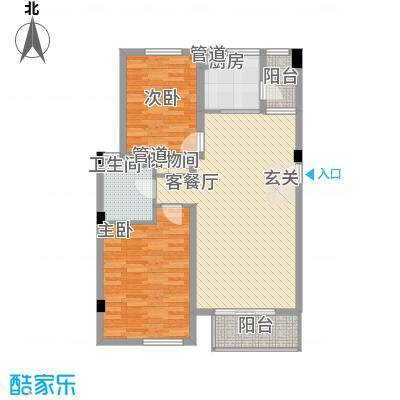 大华锦绣华城第9街区85.00㎡户型2室