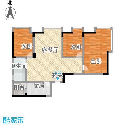 加佳苑17.00㎡户型3室