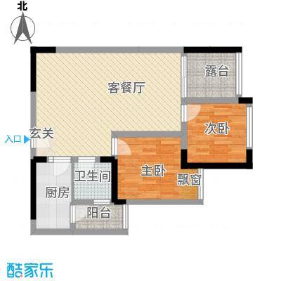 交警宿舍楼15户型2室2厅1卫1厨