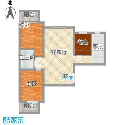 东铂城115.73㎡A5户型3室2厅1卫1厨