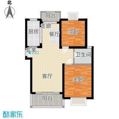 嘉骏香山苑77.37㎡房型: 二房; 面积段: 77.37 -88.64 平方米;户型-副本