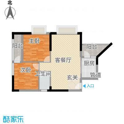 金林湾花园2居户型2室1厅1卫1厨