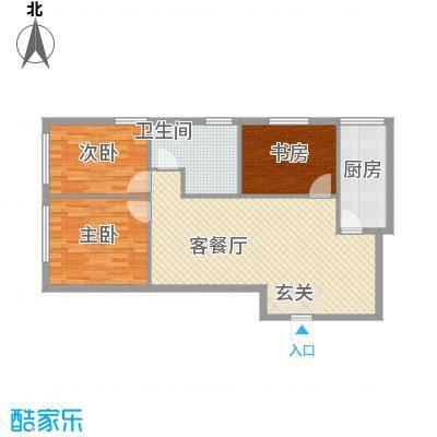 达人社馆15.00㎡户型3室2厅1卫1厨