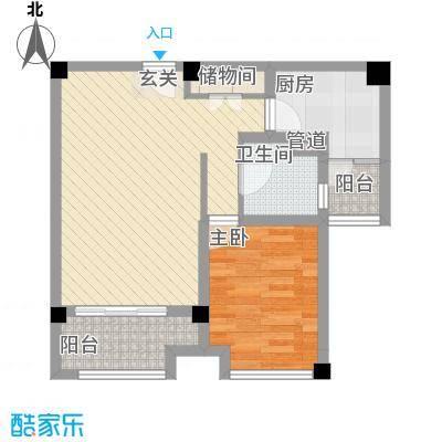 贤文公寓1637222044c11b7bdc36dc户型1室2厅1卫1厨