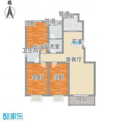 盛华公馆122.00㎡3#楼D户型3室2厅2卫1厨