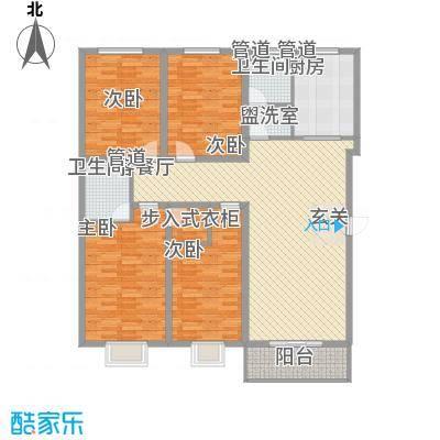 盛华公馆166.51㎡2#楼F户型4室2厅2卫1厨