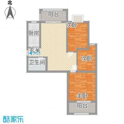 汇腾福锦苑户型3室