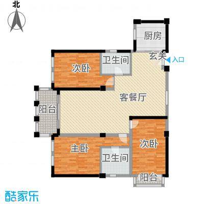 温馨花园7户型3室2厅2卫1厨