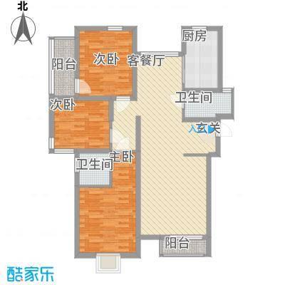 厦禾商厦8户型3室2厅2卫1厨