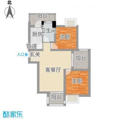 梅荆花苑78.00㎡户型