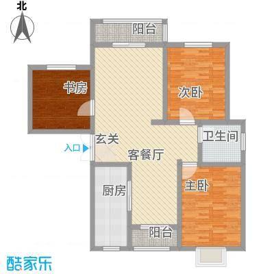 金昌二里6户型3室2厅2卫1厨