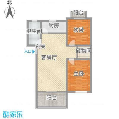 天润花苑二期112.20㎡户型