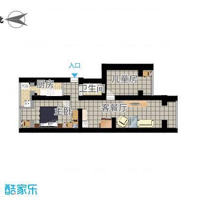 北京_四平园3居室_尺寸