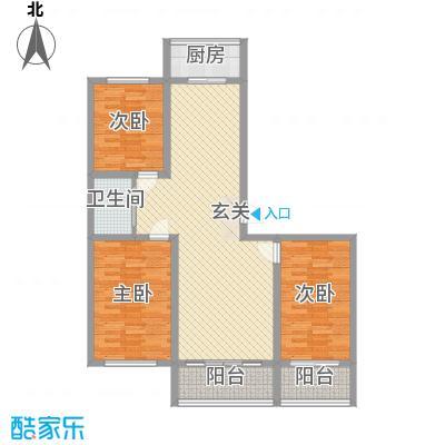 佳兴幸福家12.00㎡E户型3室2厅1卫