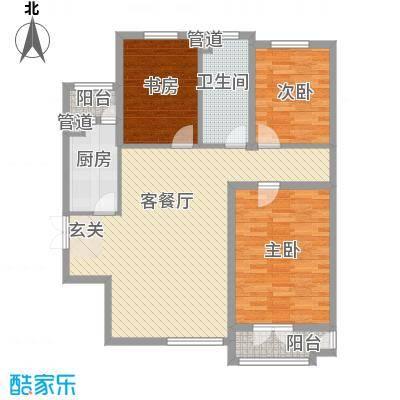 御�豪庭11.00㎡B户型3室2厅1卫1厨