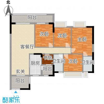 波海蓝湾三期144.00㎡D6幢01单元户型4室4厅2卫1厨