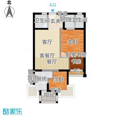 绿中海明苑87.92㎡标准层2户型(更改后房型图)