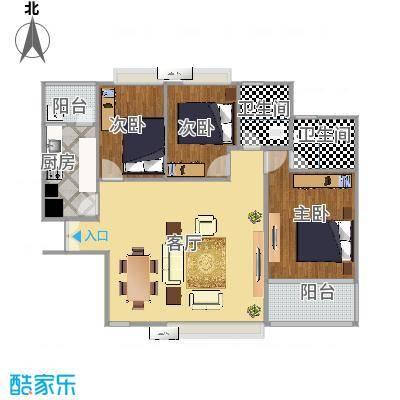 深圳_南约(南景新村)100平方设计草图_2015-08-26-1132