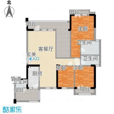 招商依山海二期Db-4户型3室2厅3卫1厨