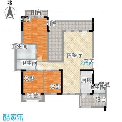 招商依山海二期Da-2户型3室2厅3卫1厨