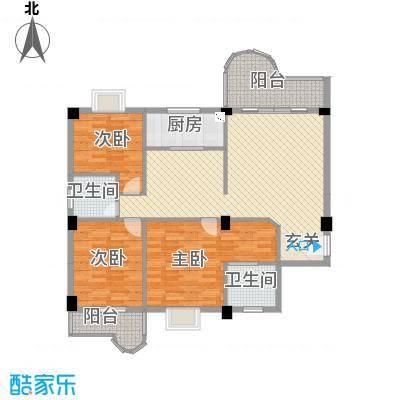 幸福里1、2、3号楼C1型户型3室2厅2卫1厨