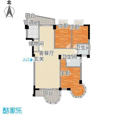 幸福里L2户型3室2厅2卫1厨