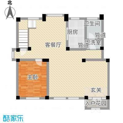 中兴茗居265.00㎡C5复式一层户型4室3厅3卫