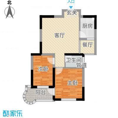 观海苑国际家居广场75.00㎡户型
