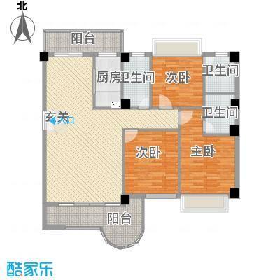 金门海景山庄142.75㎡3#楼03单元户型3室2厅3卫1厨