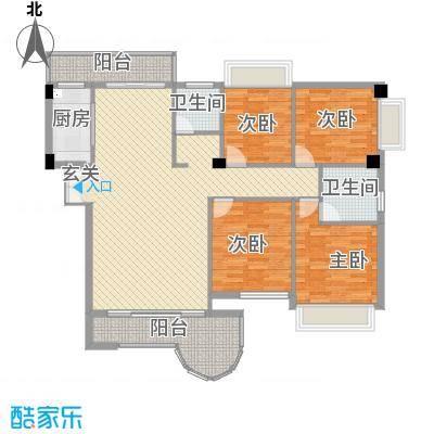 金门海景山庄155.20㎡4#楼03单元户型4室2厅2卫1厨
