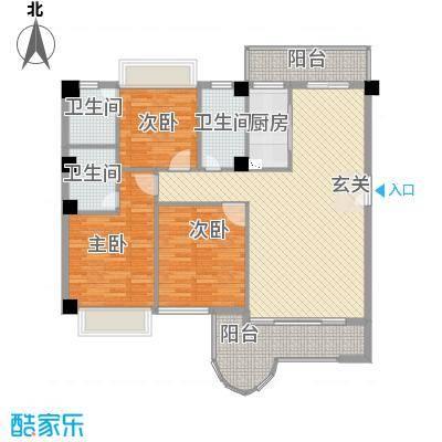 金门海景山庄142.10㎡4#楼01单元户型3室2厅3卫1厨