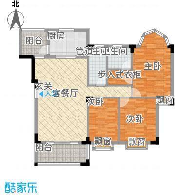 骏雅豪园136.00㎡雅鸣阁2座2层上02户型3室2厅2卫