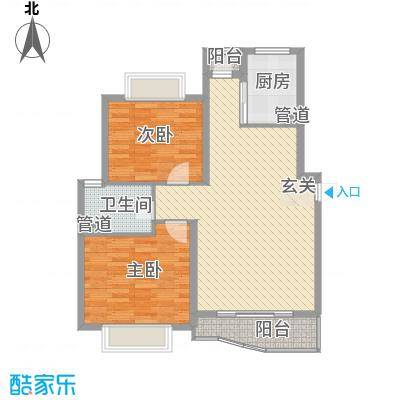 新元二村11.00㎡户型2室