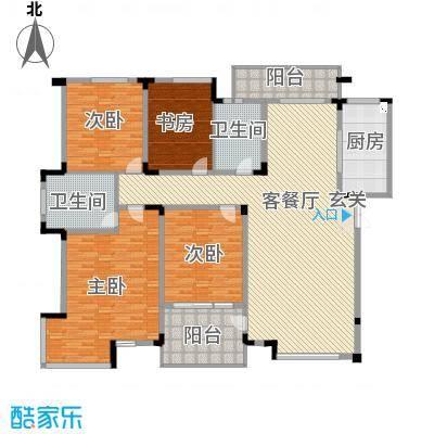 望馨花苑288.00㎡户型4室2厅2卫1厨