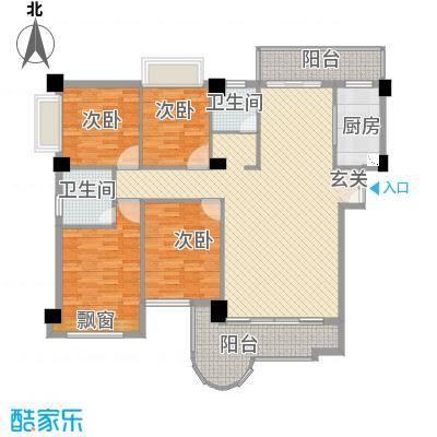 金门海景山庄155.62㎡3#楼01单元户型4室2厅2卫1厨