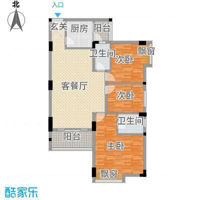 凤岭名都尚海湾C户型3室2厅2卫1厨