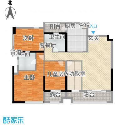 万科金御华府165.00㎡A25-30m2偶数层标准层户型4室2厅2卫