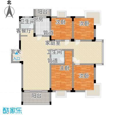 华景西苑116.00㎡户型3室
