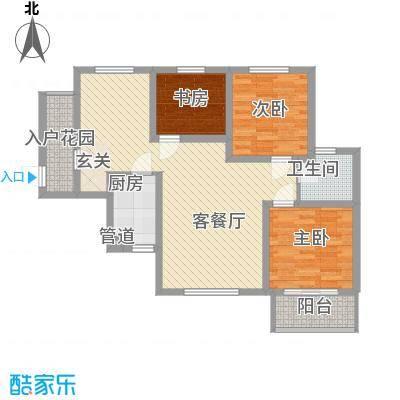 华景西苑85.00㎡户型2室