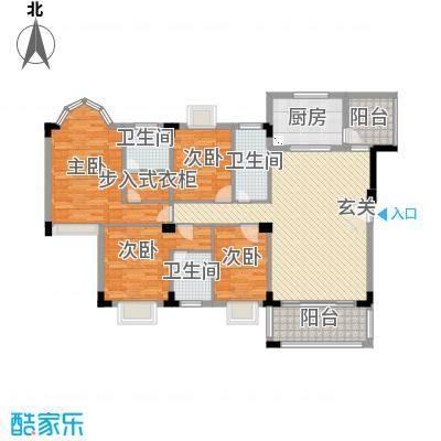 骏雅豪园162.00㎡雅涛阁1座2层上01户型4室2厅3卫