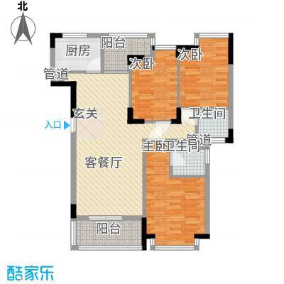 怡景丽苑113.00㎡21座御庭园4层04户型3室2厅2卫