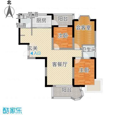 观海苑国际家居广场128.00㎡户型