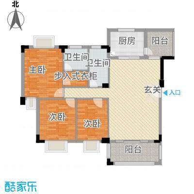 骏雅豪园134.00㎡雅涛阁2座2层上01户型3室2厅2卫