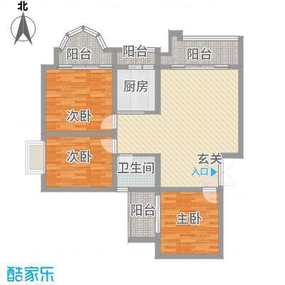 碧园花城123.00㎡户型1室