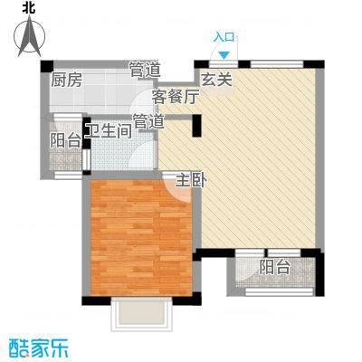 置地新唯花园67.00㎡户型1室2厅1卫1厨